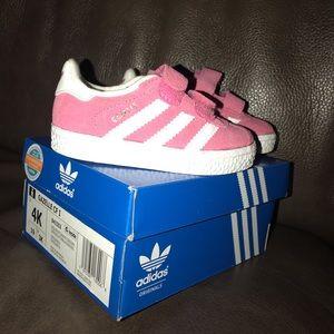 Pink Adidas Gazelles - Size 4K